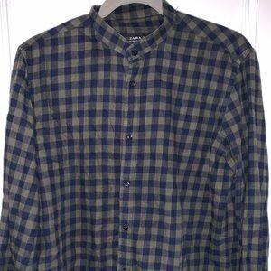 Zara Flannel Button Up Shirt